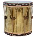 Stolik boczny okrągły bęben drewniany 60x60x62