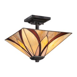 Stylowy plafon do przedpokoju Art Deco-Lampa witrażowa Tiffany