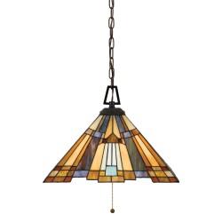 Lampa wisząca art deco - lampa witrażowa Tiffany