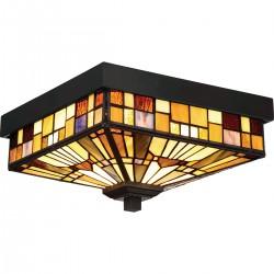 Stylowy plafon łazienkowy - Lampa witrażowa Tiffany