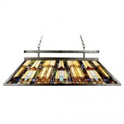 Długa lampa wisząca art deco - Lampa witrażowa Tiffany