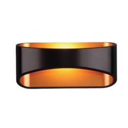 Elegancki kinkiet złoto czarny-oświetlenie ściany