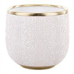 Elegancka złoto biała osłonka ceramiczna