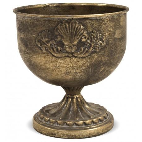 Złota metalowa osłonka na doniczkę