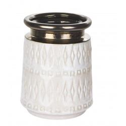 Elegancki wazon ceramiczny beżowy-złoty