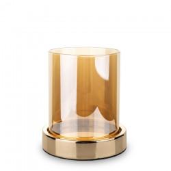 Złoty lampion na grubą świecę