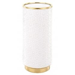 Elegancki biało złoty wazon