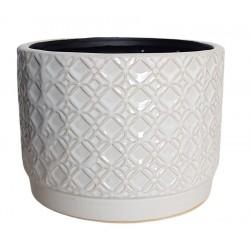 Elegancka biała osłonka ceramiczna
