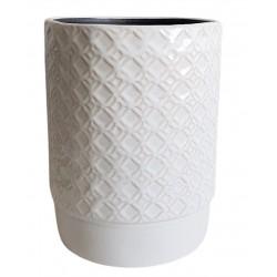 Elegancki wazon ceramiczny biały