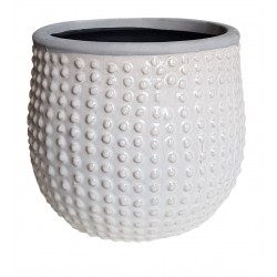 Modna biała osłonka ceramiczna Etno