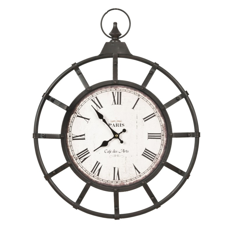 Industrialny zegar do salonu Ben