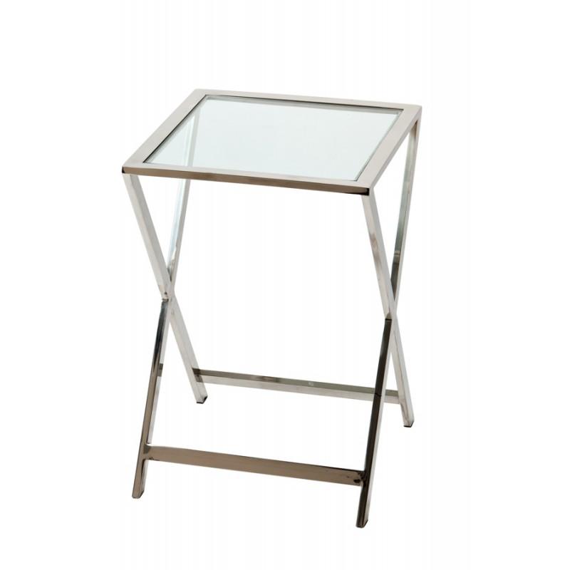 Niklowany stolik boczny