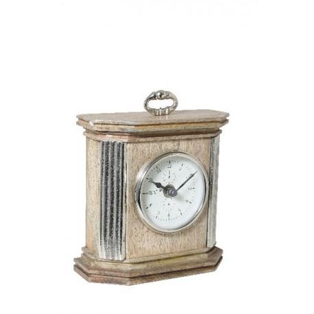 Zegar drewno/nikliel 17x19x19