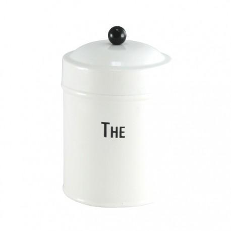 Biały pojemnik na przyprawy THE