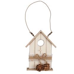 Drewniany domek- zawieszka