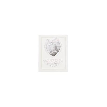Biała drwniana prowansalska ramka 19*24