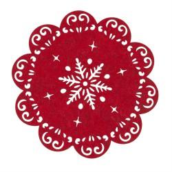 Podkładka czerwona gwiazka Ø 25 cm
