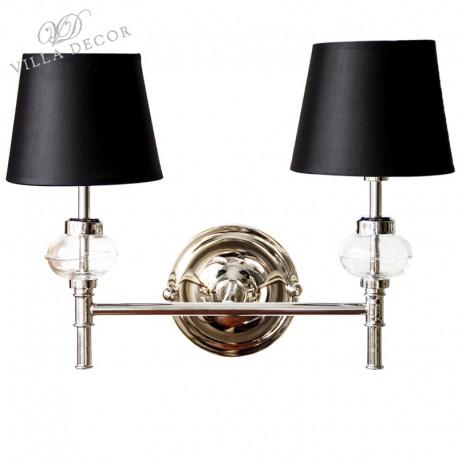 Podwójny kinkiet łazienkowy Silver & Glass