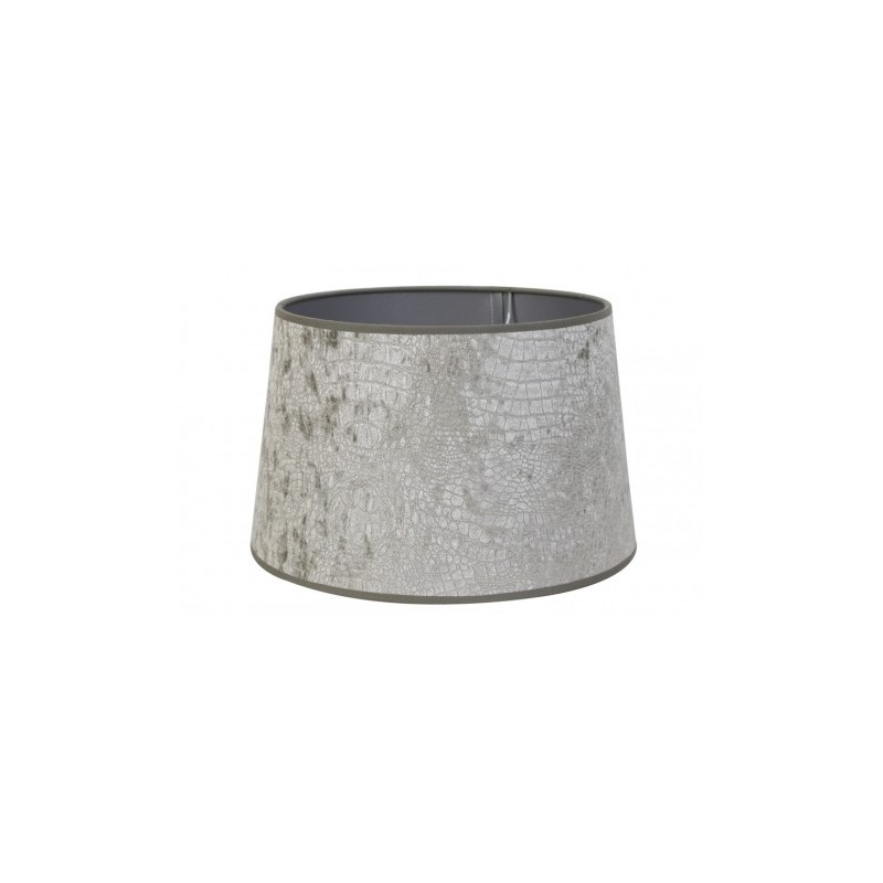 Welurowy szary abażur Ø 20 na kinkiet lub lampkę S(20)