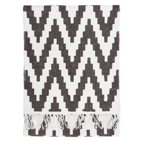 Ręcznie tkany bawełniany dywan Zig-Zag