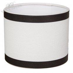 Abażur biało czarny na lampę stołową