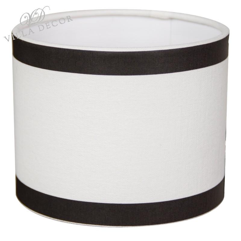 Abażur Ø 21 biało czarny na małą lampę stołową