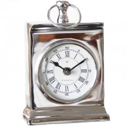 Niklowany zegarek na stolik nocny Geneve
