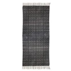 Pleciony dywan z frędzlami. Melanż grafit 170x230