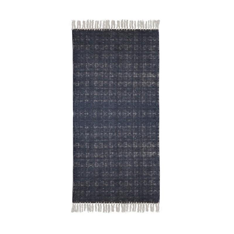 Granatowy pleciony dywan. Melanż 160x240
