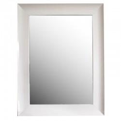 Lusto w białej drewnianej ramie-laka 50x70