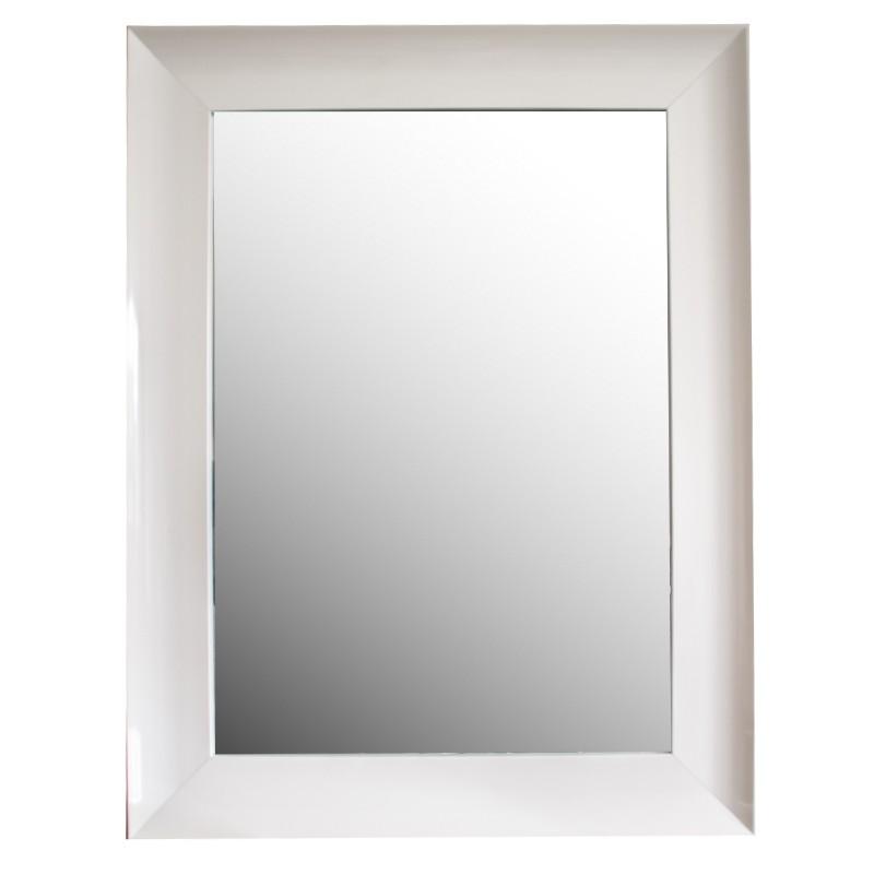 Lustro W Białej Drewnianej Ramie Laka 66x86