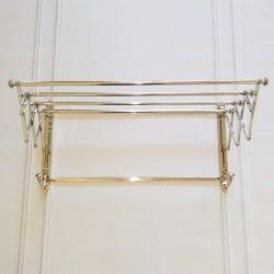 Niklowany wieszak-suszarka na ręczniki do łazienki