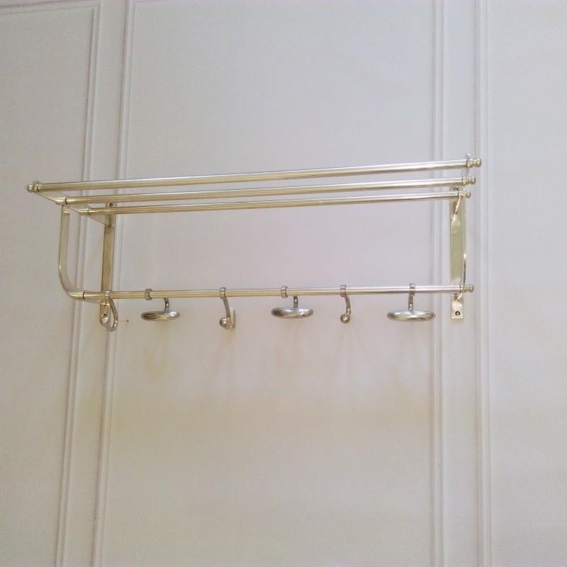 Ekskluzywny  wieszak niklowany mosiądz do przedpokoju lub łazienki
