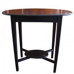 Czarny drewniany stolik boczny New York