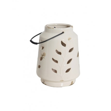 Ceramiczny lampion White Fleur