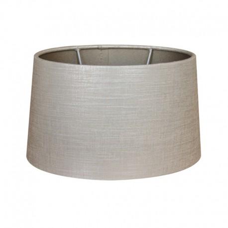 Ovalny abażur kinkietowy srebrno-szary