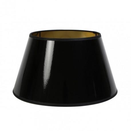 Duży czarny lakierowany abażur 35
