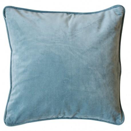 Aksamitna poszewka na poduszkę w kolorze turkusowym