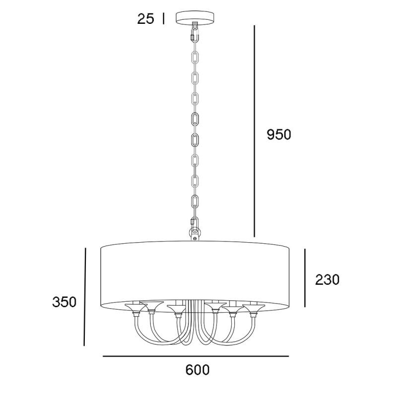 classical hampton lampy stojące