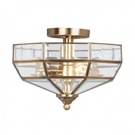 Szklany plafon sufitowy Hight Style antyczny brąz