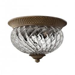 Plafon złoty szklany do przedpokoju Art Deco