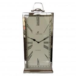 Niklowany zegar stojący lub wiszacy