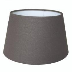 Abażur Ø 45 do lampy podłogowej ciepły grafit