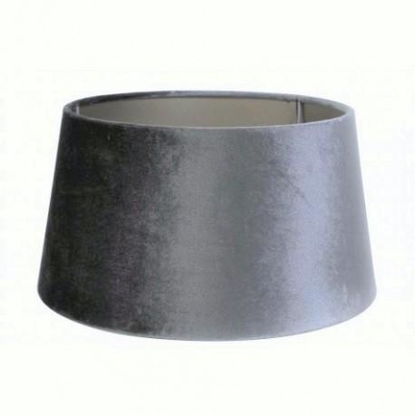 Aksamitny abażur Ø 25 New York Glamour ciemny szary lampa stołowa