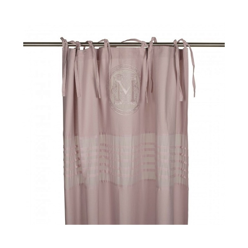 Pudrowo-różowa zasłona Milla Maison