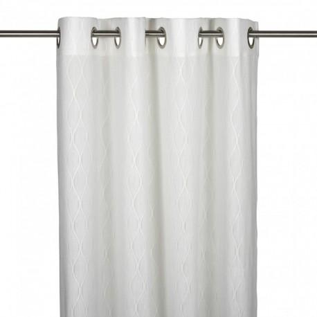 Biała zasłona do sypialni salonu Modern Life