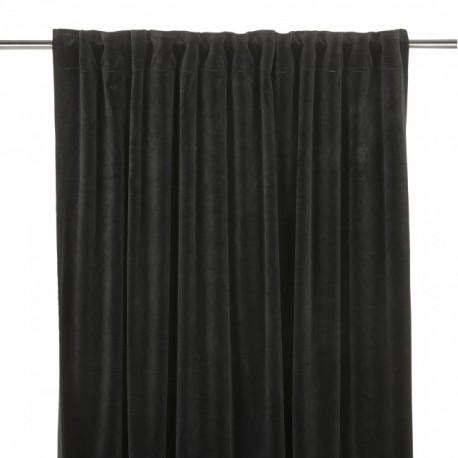Aksamitna zasłona w kolorze czarnym 280x140