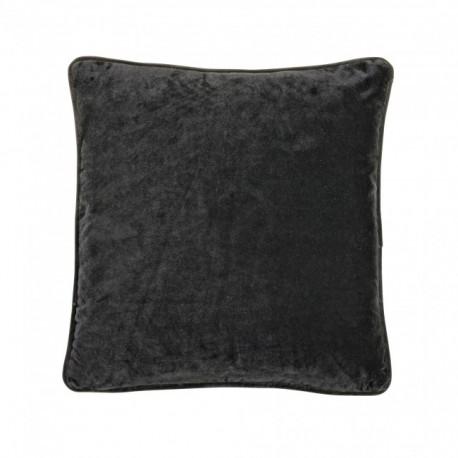 Czarna aksamitna poszewka na poduszkę