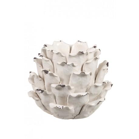 Biła ceramiczna podstawa pod świecę
