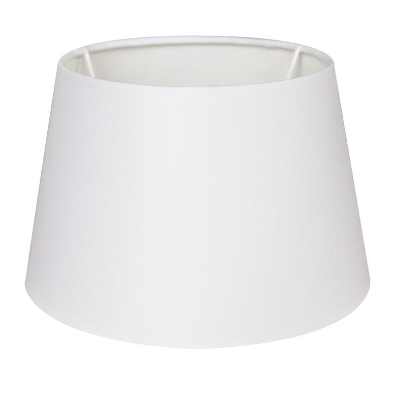 Biały abażur 25 cm do lampy stołowej